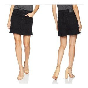 LEVIS Mile High Black Denim Ruffle Skirt